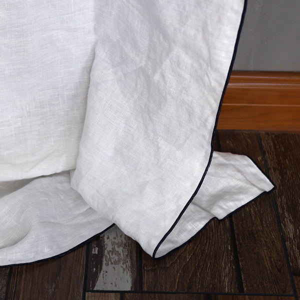 Bourdon Edge Flat Sheets - Linenshed