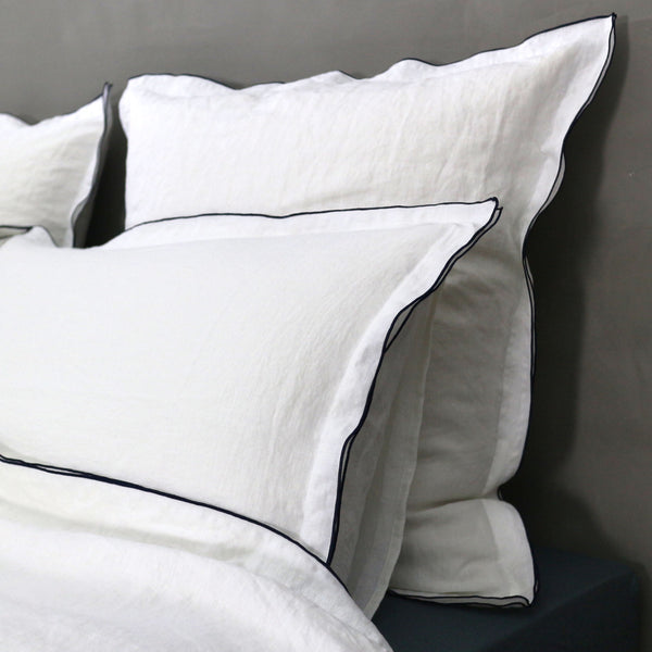 Bourdon Edge Pillowcases - Linenshed