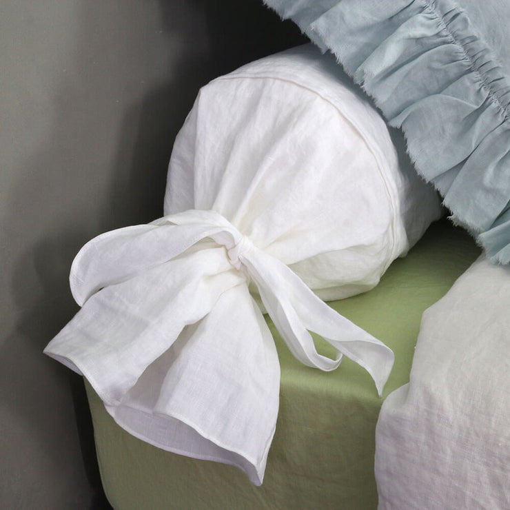 Bow Ties Linen Bolster - Linenshed