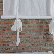 Bow Ties Pure Washed Linen Curtains Optic White - Linenshed