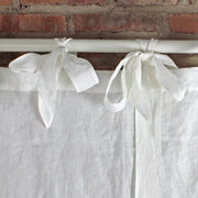 Bow Ties Pure Washed Linen Curtains Closeup - Linenshed
