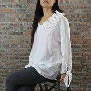 Casual Tie up Blouse 02 - Linenshed