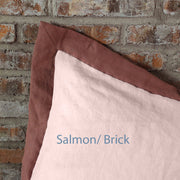 French color Border Duvet Cover Salmon/ Brick