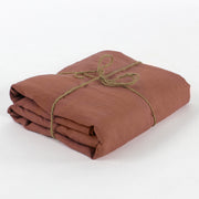 100% Linen Fitted Sheet Brick