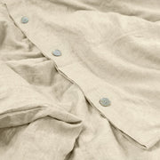 Button Closure on Duvet Cover Natural