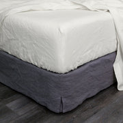 Washed Linen Fitted Sheet Chalk