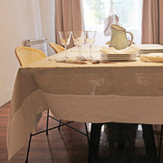 Linen Tablecloth with contrasted border