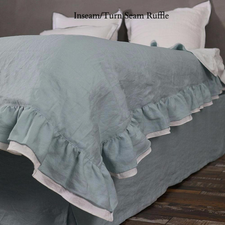 Two Tones inseam/Turn seam coverlet - Linenshed