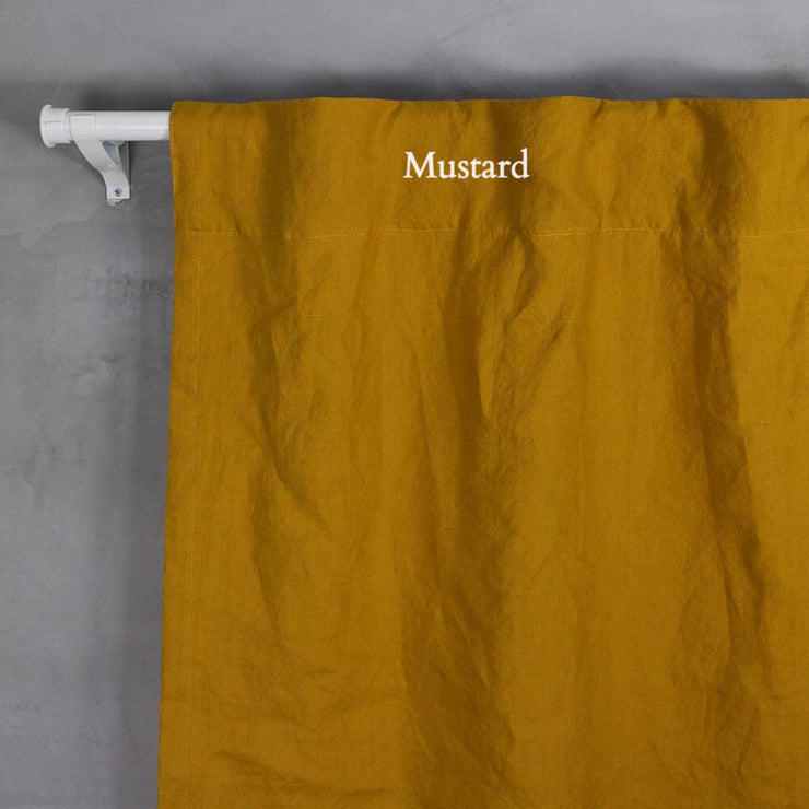 Pure Washed Linen Curtain (no Lining) Mustard