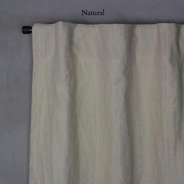 Pure Washed Linen Curtain with Cotton Lining Natural