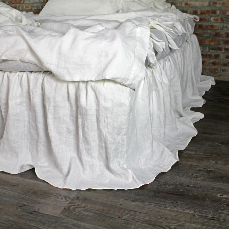 Gathered Ruffle Bed Skirt Optic White