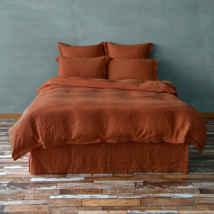 Duvet Cover Coral in Linen