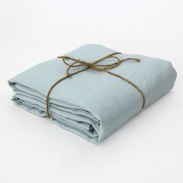 100% Linen Fabric by the meter in Icy Blue color
