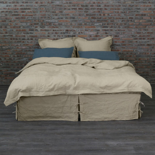 natural linen duvet washed linen quilt cover tailored linenshed 1048