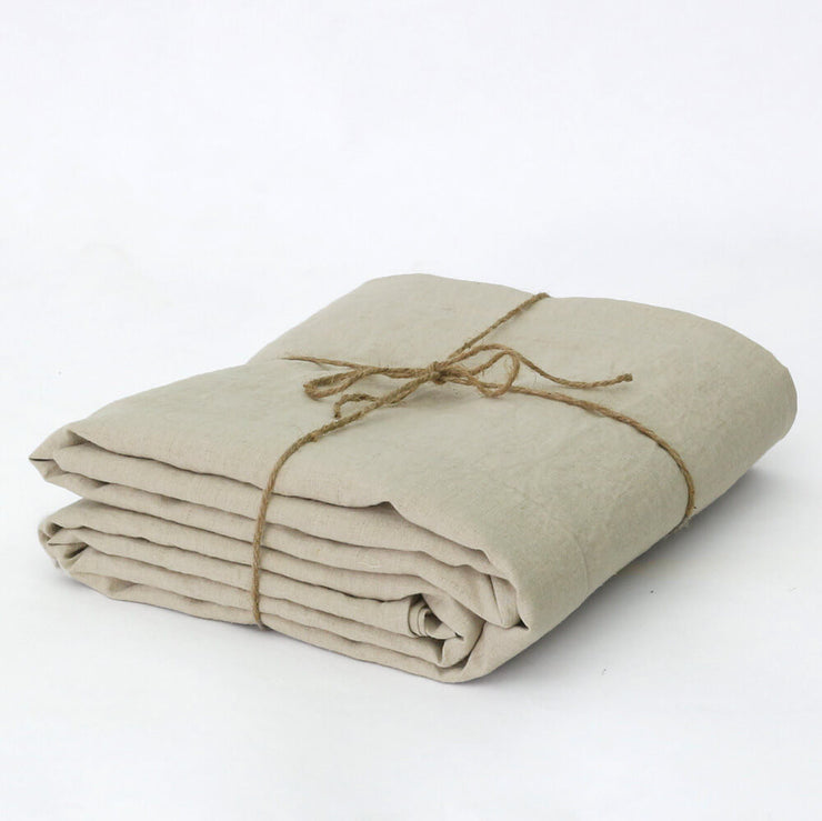 Soft Washed Linen Natural Duvet Well Packed