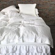 Optic White Duvet Cover with Ties Closure