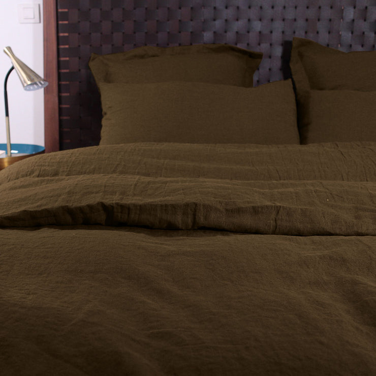 Pure Linen Duvet Cover Coffee - Linenshed