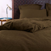 Soft  Linen Duvet Cover Coffee - Linenshed