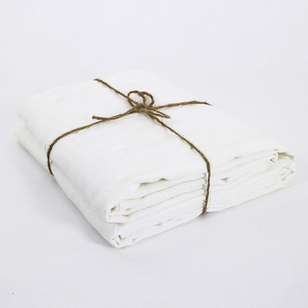 French Fine Linen Fabric Optical White