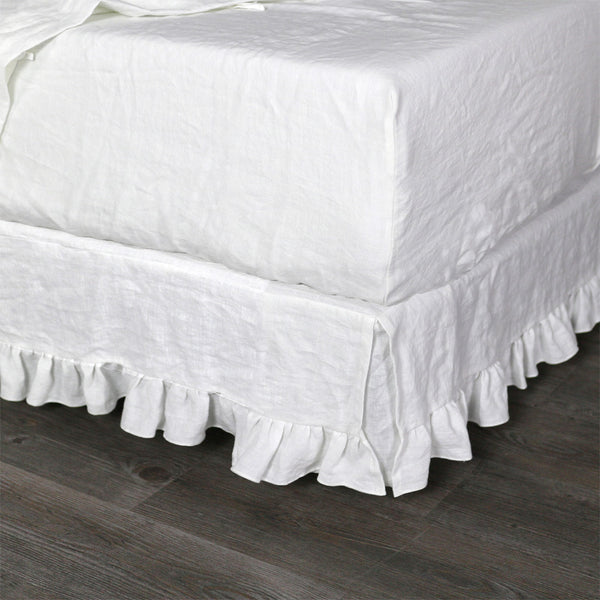 Fitted Sheet Bed Linen White