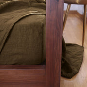 Cofee Color Linen fitted sheet - Linenshed