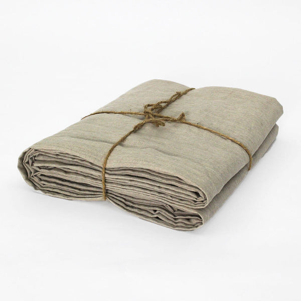 Linen Flat Sheet Natural Undyed Folded