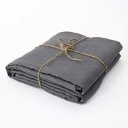 Bed Linen Flat Sheet Lead Grey - Linenshed
