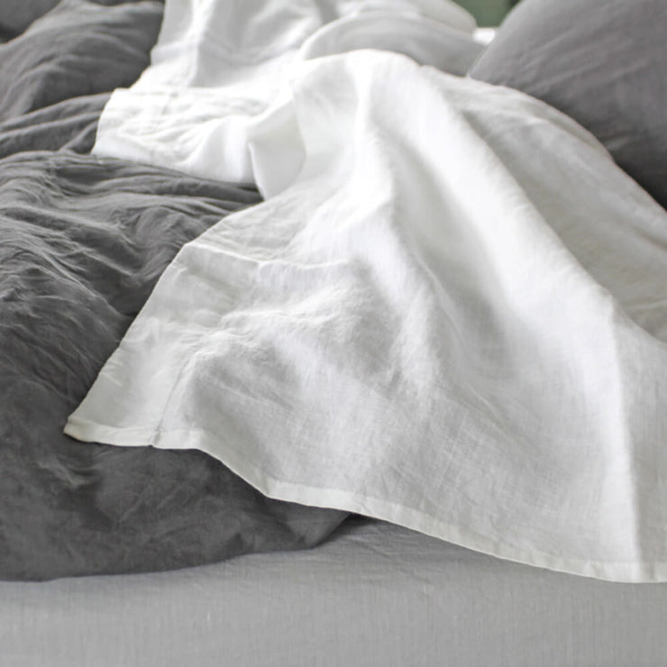 Linen Sheet Optic Amp Off White Flat Sheet From Single To