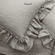 Pure Linen Frayed Edged Pillowcases Natural