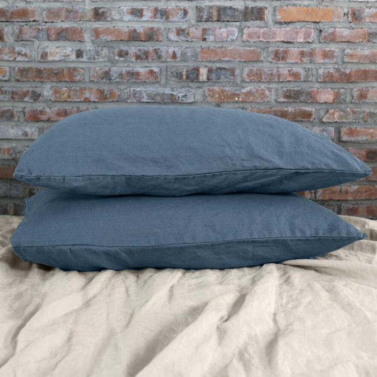 Housewife Linen Pillowcases Pair French Blue