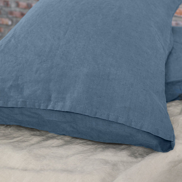 French Blue Bed Linen Pillowcases