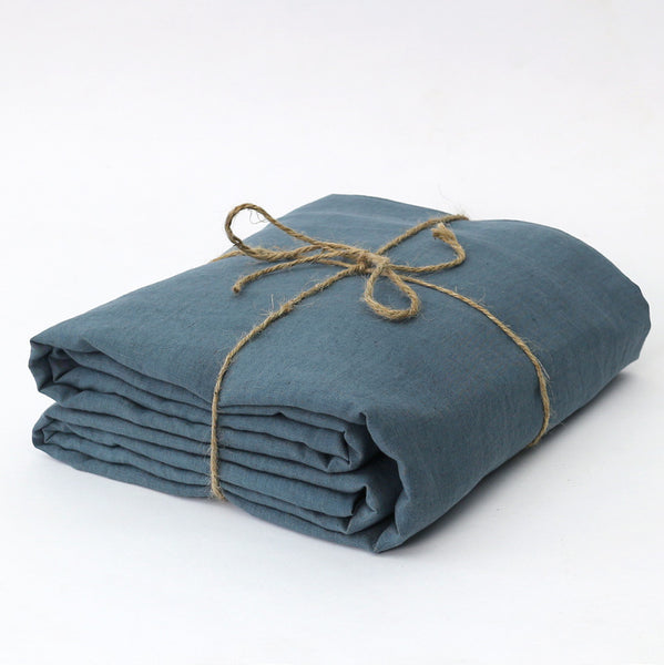 Flax Linen Fabric in French Blue