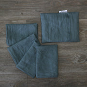 Linen plain Table Napkins With Pouch French Blue