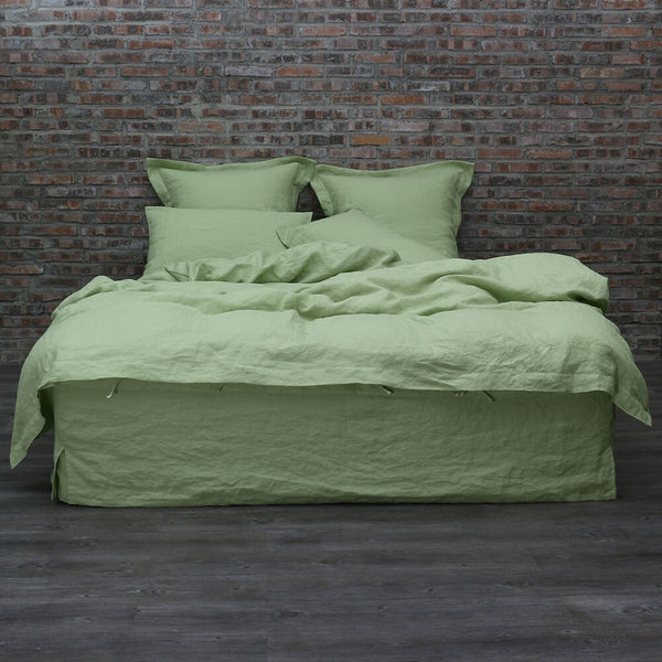 Linen Bedding Set Green Tea