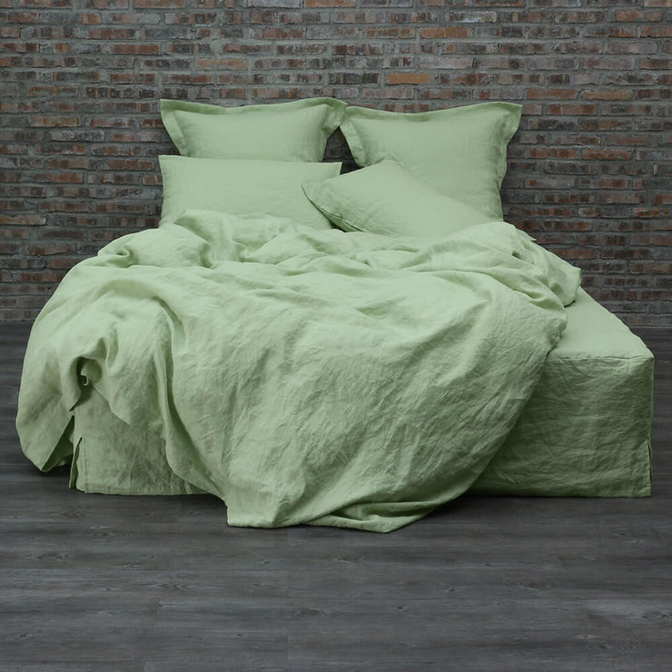 Linen Duvet Cover Green Tea