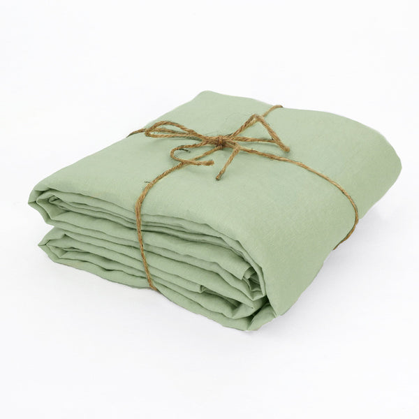 100% Linen Fabric by the meter in Green Tea color
