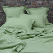 Standard Flanged Pillowcases Green Tea