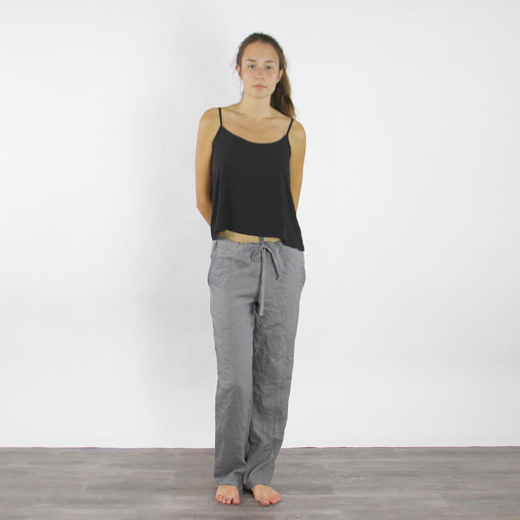 Ladies Casual Linen Trousers - Linenshed