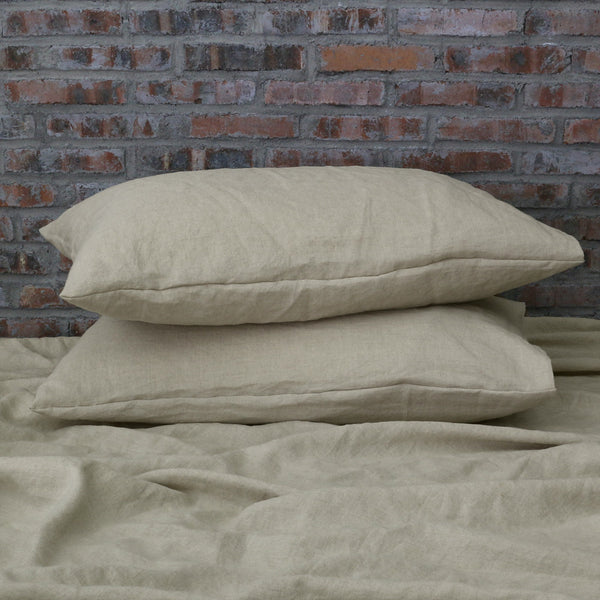 Housewife Linen Pillowcases Pair Natural Undyed