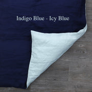 Two Tones Duvet Cover Indigo Blue-Icy Blue