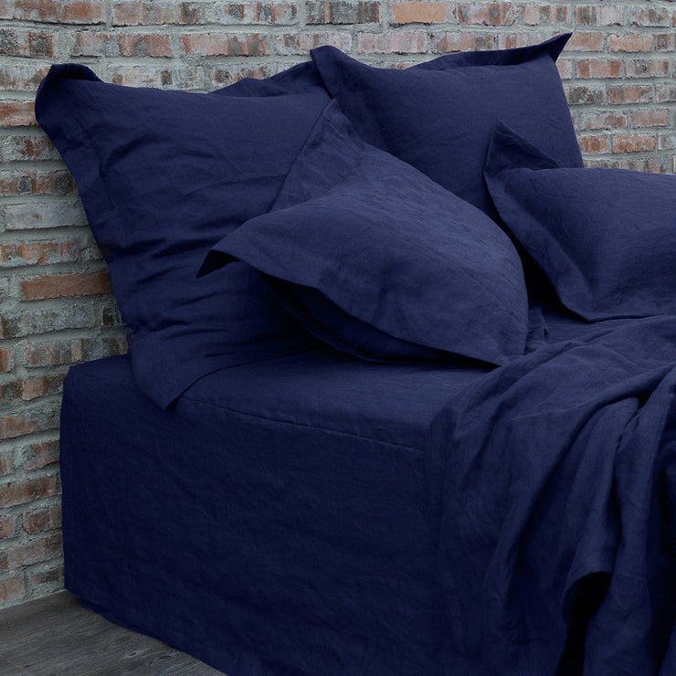 Standard & Euro Flanged Pillowcases Indigo Blue
