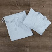 Free Size Kimono Bathrobe Icy Blue Folded with its Pouch