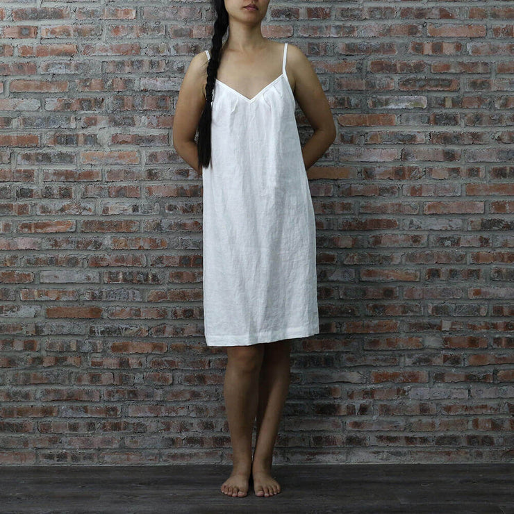 Knee-length Linen Nightie
