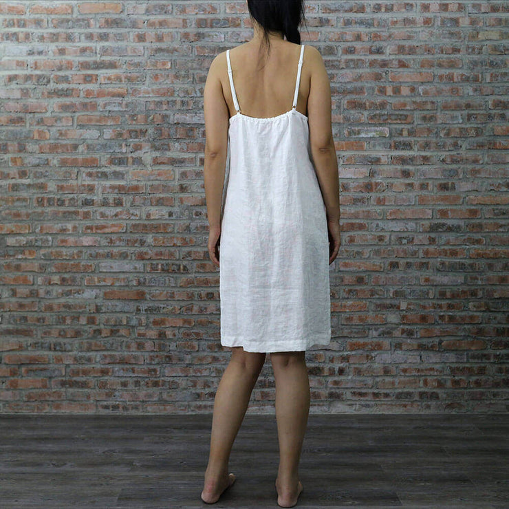 Back view Of The Long Linen Nightie