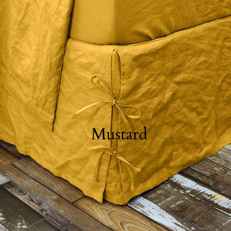 Mustard Knotted Bedskirt