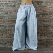 Wide-leg Linen Trousers For Women