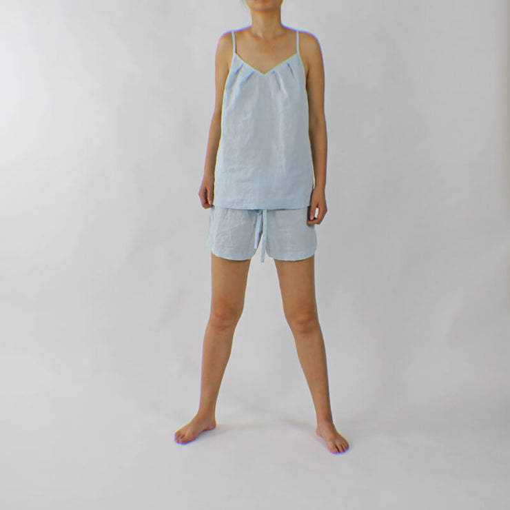 Short Nuisette Soft Washed Pure Linen