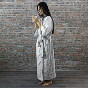Ankle Length Linen Bathrobe For Mens and Women