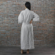 Back Detail Of Linen kimono Style Bathrobe