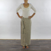 Linen Button Front Skirt Ankle Length - Linenshed